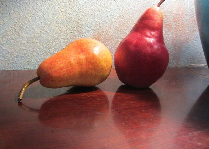 Pears Greeting Card featuring the photograph Juicy2 by Dody Rogers