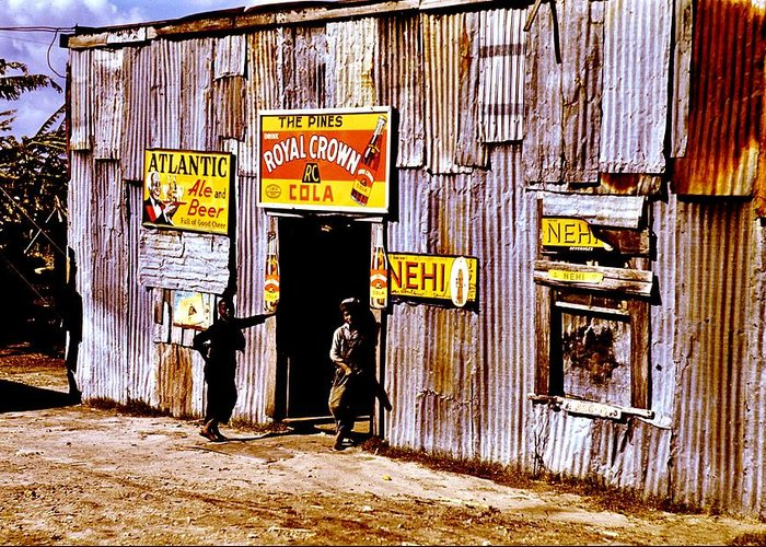 Nehi Greeting Card featuring the photograph Juke Joint by Benjamin Yeager