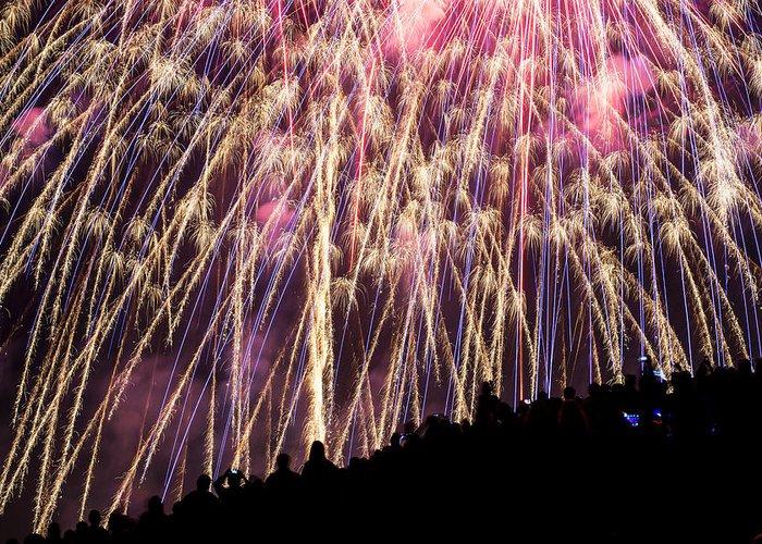 Fireworks. Kites Greeting Cards