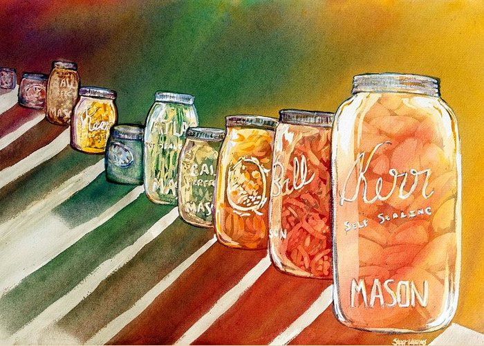 Ball Greeting Card featuring the painting July's Harvest by Starr Weems