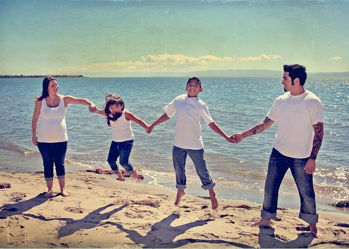 Alameda Beach Greeting Card featuring the photograph Jump For Joy by Laurie Search