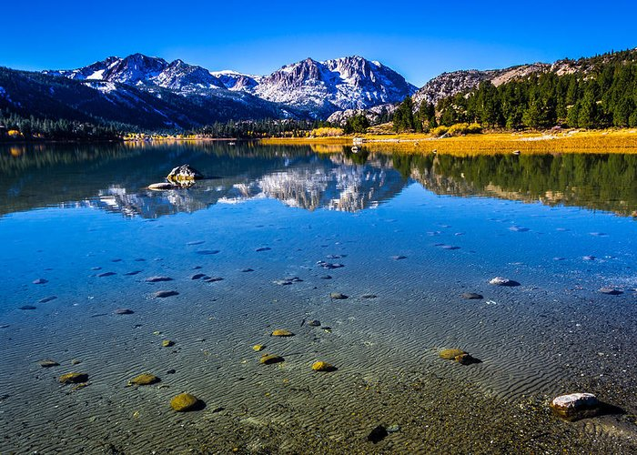 June Lake Greeting Card featuring the photograph June Lake California by Scott McGuire
