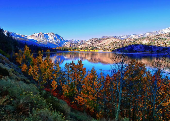 Aspen Trees Greeting Card featuring the photograph June Lake California Sunrise by Scott McGuire