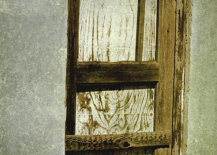 Door Greeting Card featuring the photograph Just A Door by Lin Haring