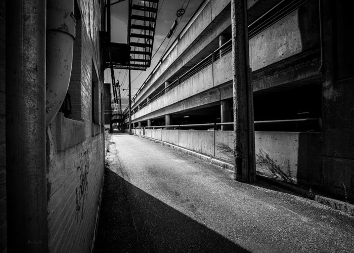 Urban Greeting Card featuring the photograph Just Another Side Alley by Bob Orsillo