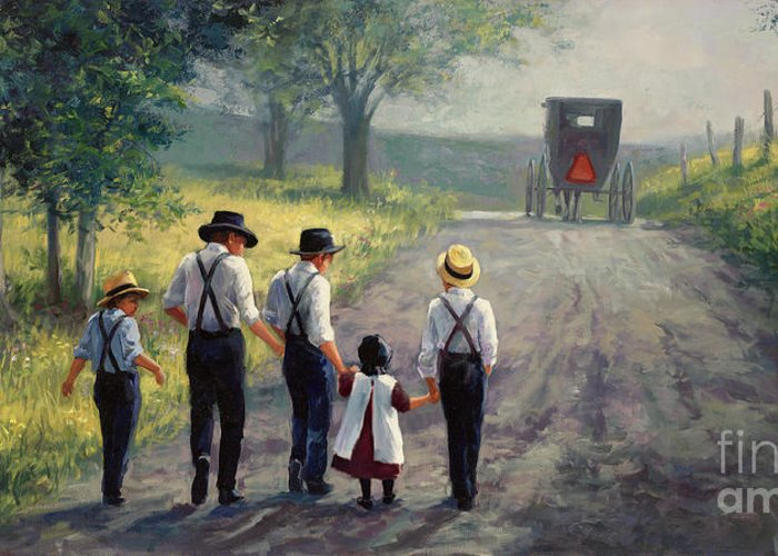 Amish Father Greeting Cards