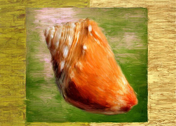 Seashell Greeting Card featuring the digital art Just Beachy by Lourry Legarde