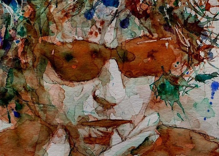 Bob Dylan Greeting Card featuring the painting Just Like A Woman by Paul Lovering