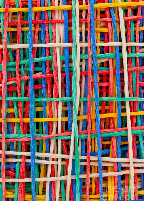 Abstract Greeting Card featuring the sculpture Just Strings Attached II by Shawn Hempel