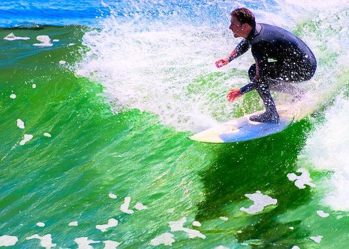 Santa Cruz Greeting Card featuring the photograph Just Surf - Santa Cruz California Surfing by Mark E Tisdale