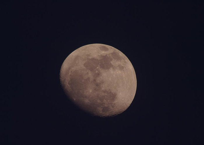 Moon Greeting Card featuring the photograph Just The Moon by Jeff Swan