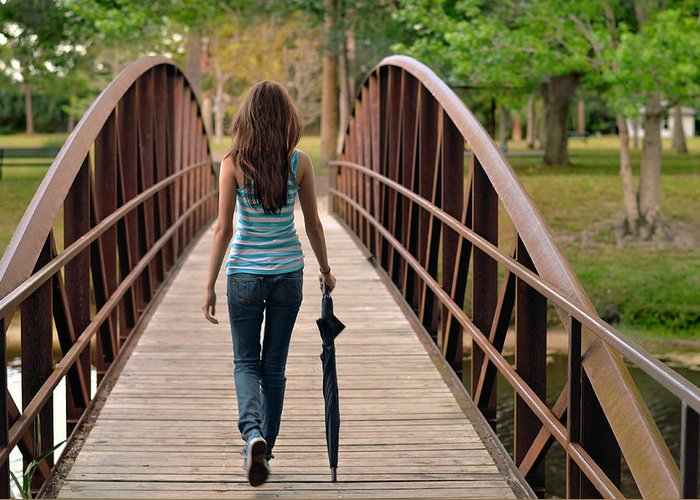 Walk Greeting Card featuring the photograph Just Walk Away Renee by Laura Fasulo