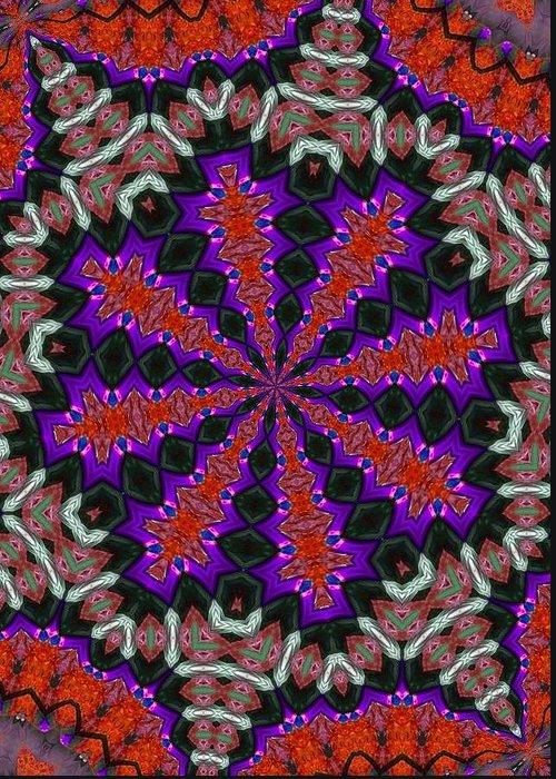 Kaleidoscope Greeting Card featuring the photograph K3 by Mechala Matthews