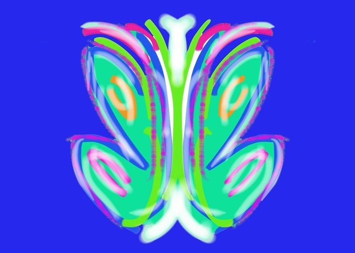 Abstract Greeting Card featuring the digital art Kai by Philomena K