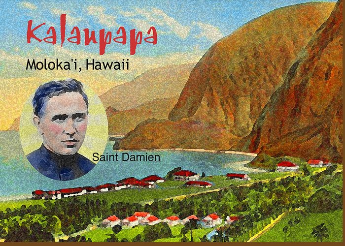 James Temple Greeting Card featuring the photograph Kalaupapa by James Temple