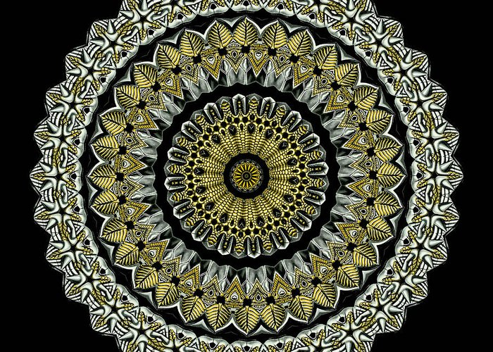 Ernst Haeckel Greeting Card featuring the photograph Kaleidoscope Ernst Haeckl Sea Life Series Steampunk Feel by Amy Cicconi