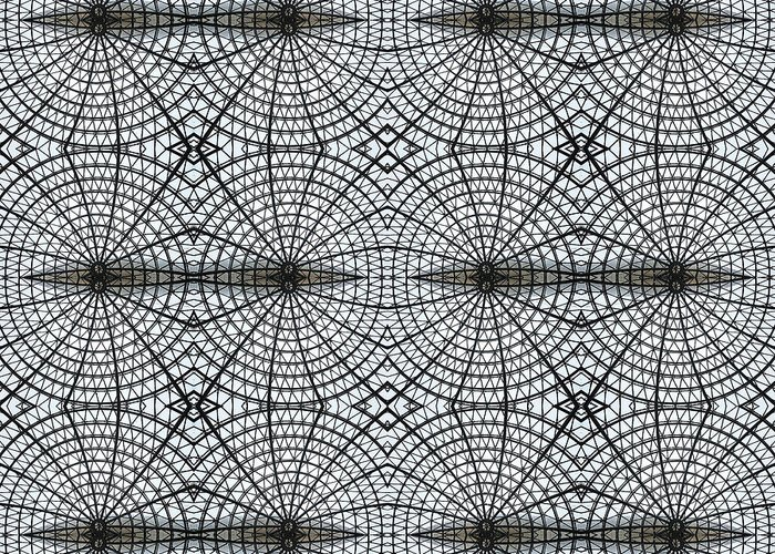Internet Greeting Card featuring the photograph Kaleidoscope Of Metal And Glass Design by Elena Peremet