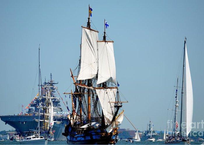 Tall Ship Greeting Card featuring the photograph Kalmar by Brenda Dorman
