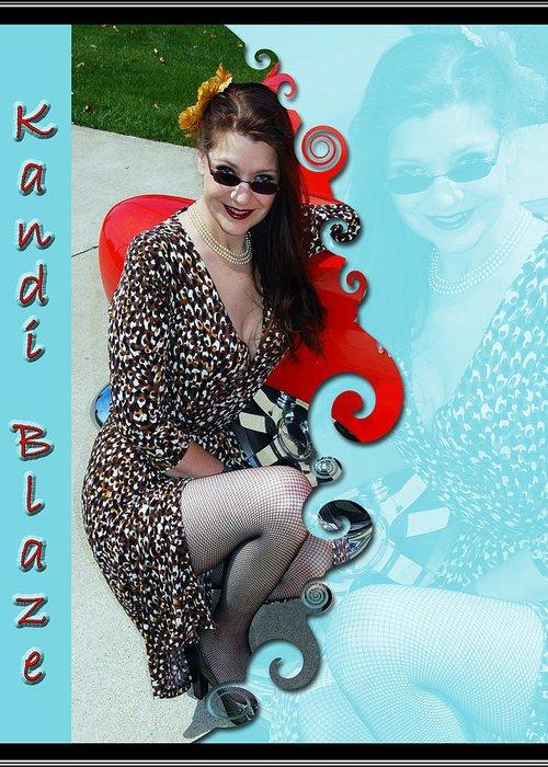 Kandi Blaze Greeting Card featuring the photograph Kandi Blaze Poster 1 by Brian Graybill
