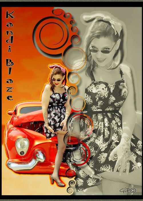 Kandi Blaze Greeting Card featuring the photograph Kandi Blaze Poster 4 by Brian Graybill