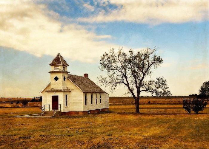 Church Greeting Card featuring the photograph Kansas Church by Marty Koch