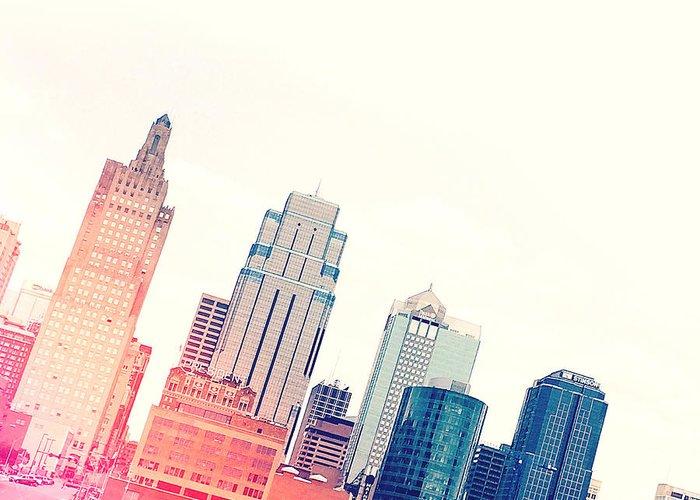 Kansas City Skyline Greeting Cards
