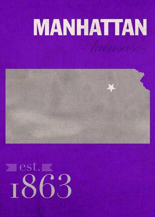 Map Of Manhattan Kansas.Kansas State University Wildcats Manhattan Kansas College Town State