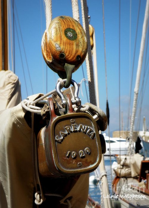 Sailing Greeting Card featuring the photograph Karenita 1929 by Lainie Wrightson