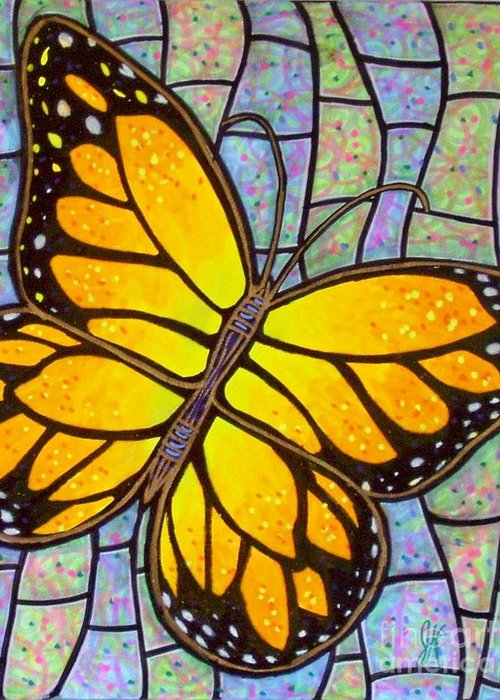 Butterflies Greeting Card featuring the painting Karens Butterfly by Jim Harris