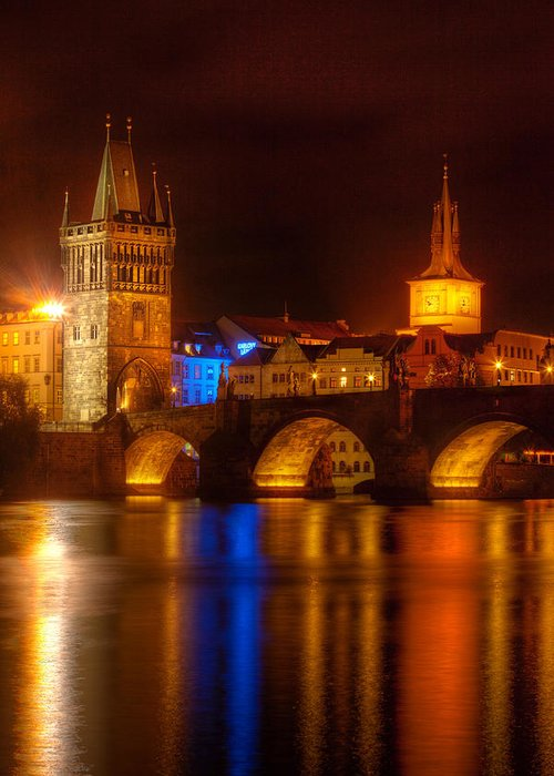 Karluv Most Greeting Card featuring the photograph Karluv Most 2-prague by John Galbo