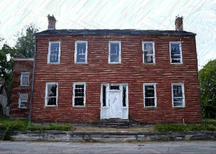 Karrick-parks House Greeting Card featuring the photograph Karrick Parks House - Perryville Ky by Thia Stover