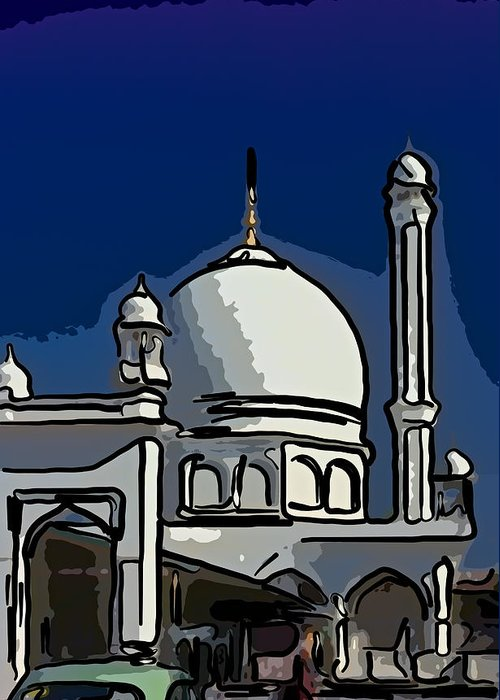 India Greeting Card featuring the photograph Kashmir Mosque 2 by Steve Harrington