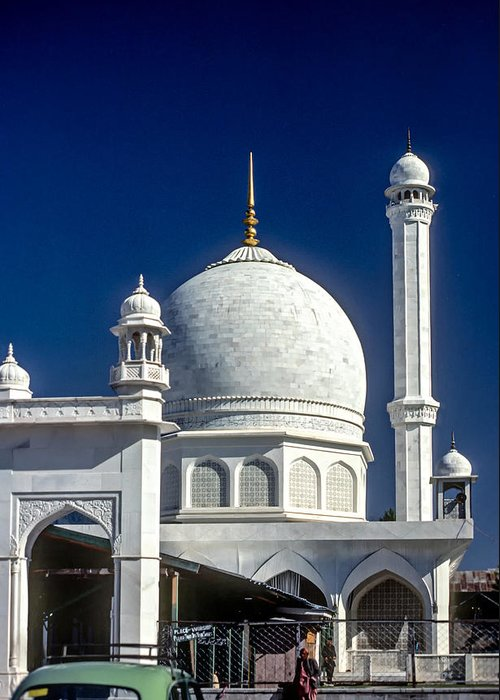 India Greeting Card featuring the photograph Kashmir Mosque by Steve Harrington