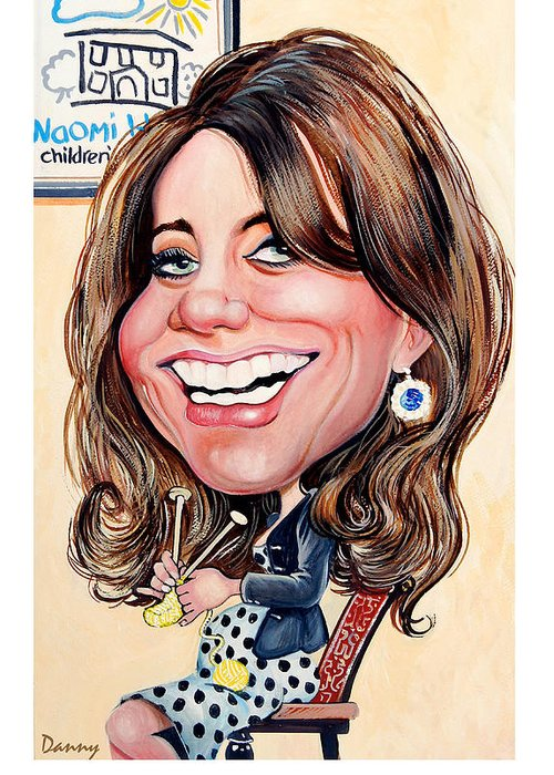 Kate Greeting Card featuring the painting Kate Middleton. Duchess Of Cambridge by Daniel Byrne