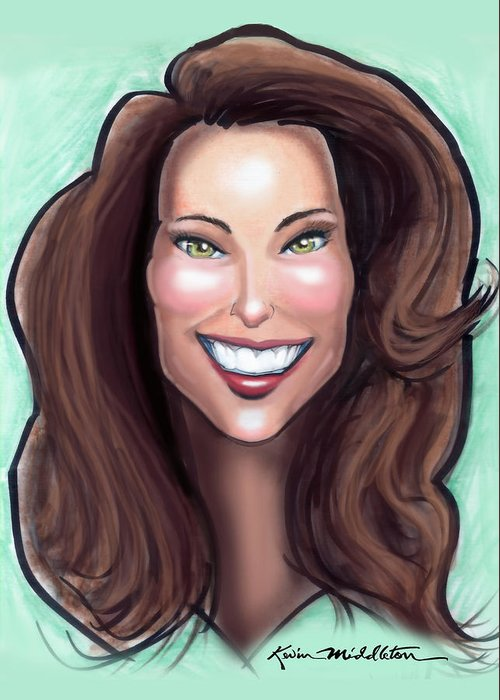 Kate Middleton Greeting Card featuring the painting Kate Middleton by Kevin Middleton
