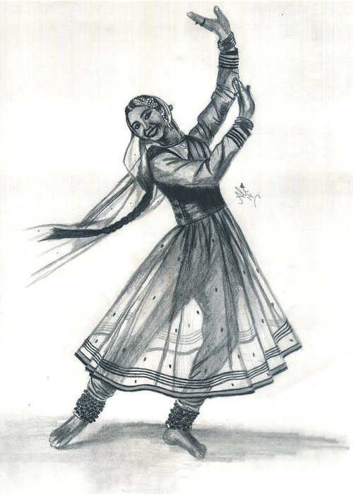 Kathak Dancer Greeting Card For Sale By Bobby Dar
