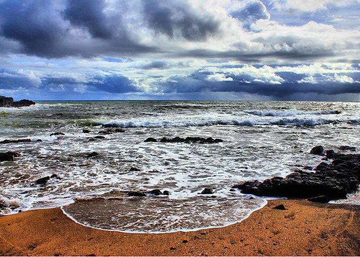 Hawaii Kauai Greeting Card featuring the photograph Kauai Glass Beach by Bob Kinnison