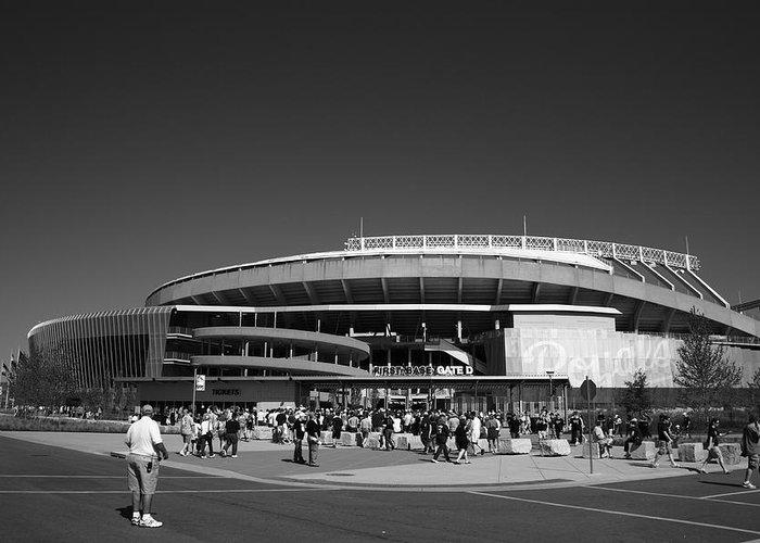 American Greeting Card featuring the photograph Kauffman Stadium - Kansas City Royals 2 by Frank Romeo