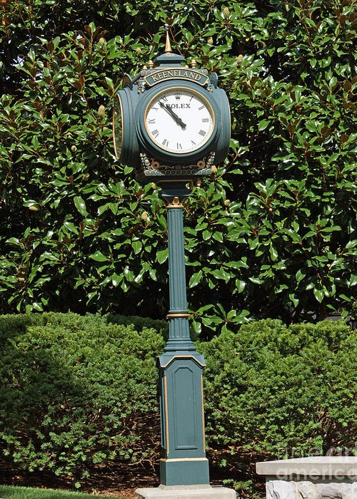 Keeneland Race Track Greeting Card featuring the photograph Keeneland Rolex by Roger Potts