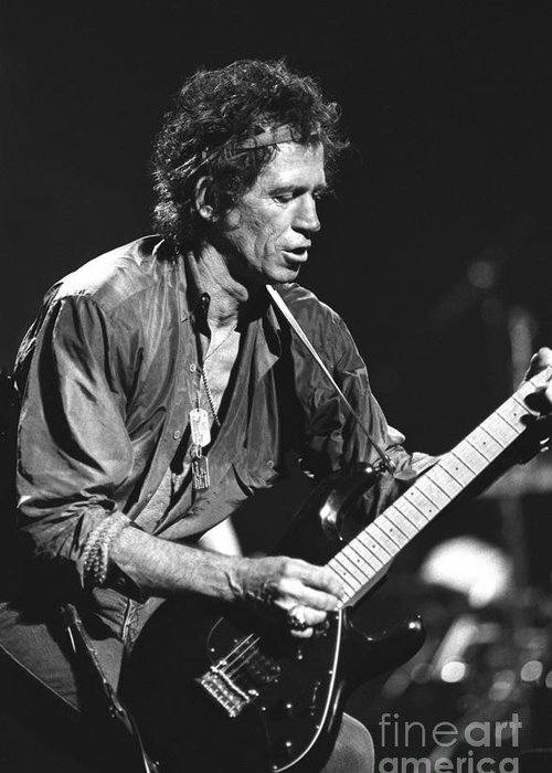 Guitarist Greeting Card featuring the photograph Keith Richards by Concert Photos