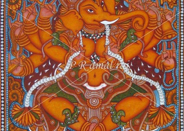 Kerala Mural Paintings Greeting Card For Sale By P R Amalraj