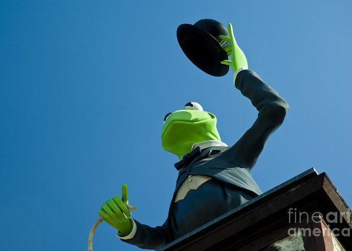 Kermit the frog greeting card for sale by micah may kermit the frog greeting card featuring the photograph kermit the frog by micah may m4hsunfo