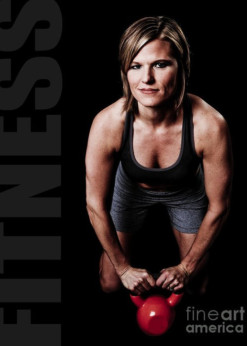 Gym Greeting Card featuring the photograph Kettlebell Time by Jt PhotoDesign