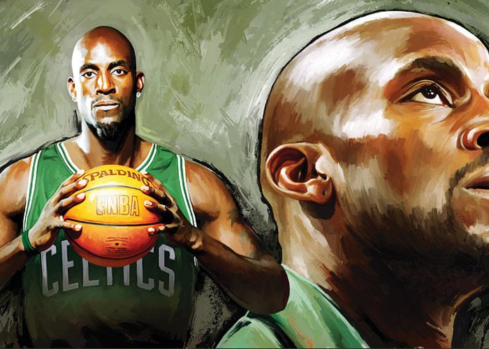 Kevin Garnett Art Greeting Cards