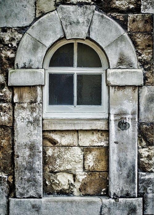 Window Greeting Card featuring the photograph Keystone Window by Heather Applegate