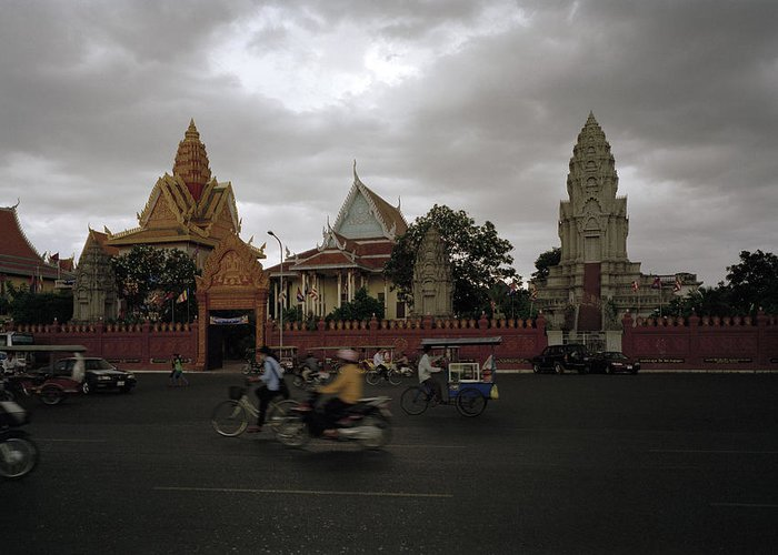 Khmer Greeting Card featuring the photograph Khmer Life by Shaun Higson