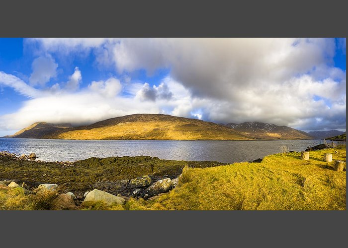 Galway Greeting Card featuring the photograph Killary Harbour On The Irish West Coast by Mark E Tisdale