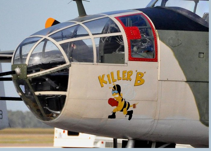 B25 Greeting Card featuring the photograph Killer Bee by John Black