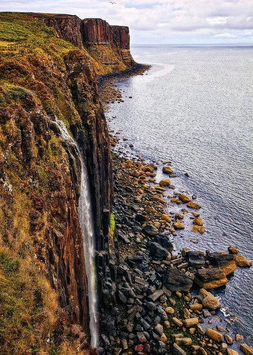 Landscape Greeting Card featuring the photograph Kilt Rock by Marcia Colelli