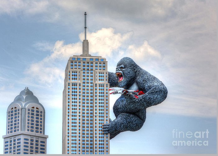 Architecture Greeting Card featuring the photograph King Kong Comes To Myrtle Beach by Kathy Baccari
